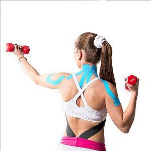 Fita Kinesio Multilaser Muscle Fix Tiras 25cmx5cm Preta