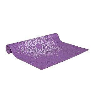 Tapete de Yoga Atrio Premium com Estampa de Mandala Roxo