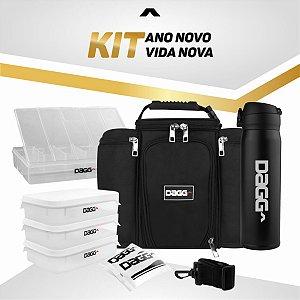 Kit Bolsa Térmica + Garrafa Attack Preta 2020