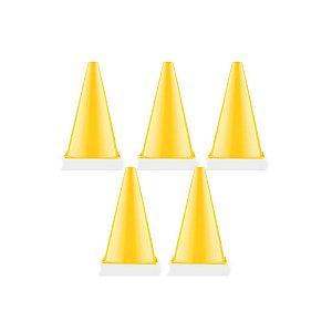 KIT 5 CONES Demarcatórios 24cm Amarelo Dagg