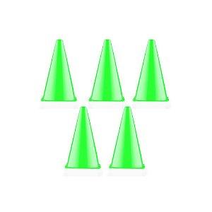KIT 5 CONES Demarcatórios 24cm Verde Dagg