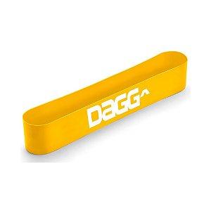 Mini Band Amarelo Faixa Elástica Dagg Profissional Resistente Intensidade X-Light