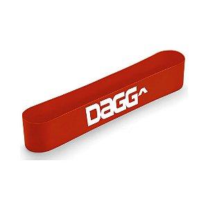 Mini Band Vermelho Faixa Elástica Dagg Profissional Resistente Intensidade Medium