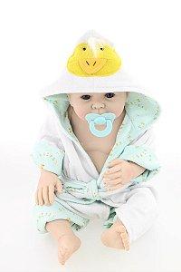 Bebê Reborn Fofinho Todo em silicone com Acessórios - Super Promoção Para o Dia das Crianças Por Tempo Limitado!!