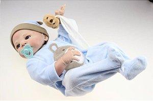 Bebê Reborn Gabrielzinho Todo em silicone - Super Promoção Para o Dia das Crianças Por Tempo Limitado!!