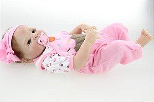 Bebê Reborn Lulu Toda em silicone - Super Promoção Para o Dia das Crianças Por Tempo Limitado!!