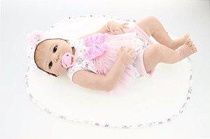 Bebê Reborn Vivi - Toda em silicone - Super Promoção Para o Dia das Crianças Por Tempo Limitado!!