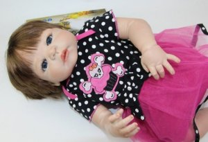 Bebê Reborn Fernandinha Toda em silicone - Super Promoção Para o Dia das Crianças Por Tempo Limitado!!