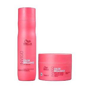 Kit Wella Shampoo Invigo Color Brilliance 250ml + Máscara 150ml