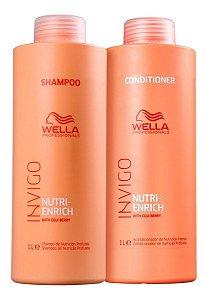 Kit Wella Invigo Nutri Enrich Shampoo 1000ml + Cond. 1000ml