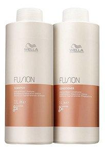 Wella Kit Fusion Shampoo 1000ml + Condicionador 1000ml