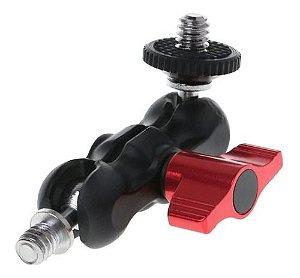 Braço Articulado Magic Arm 1/4 Câmera Tripé Luz Microfone