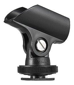 Suporte Microfone Cachimbo C/ Sapata P/ Câmera Celular Tripé