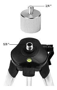 Adaptador Conversor Tripé Nível A Laser 5/8 Fêmea 1/4 Macho