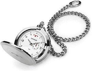 Relógio de Bolso Technos Prata 1l45ba/1b