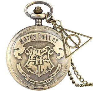 Relogio de Bolso Harry Potter Hogwarts
