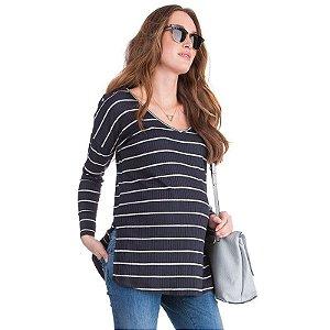 Blusinha Listrada Maternidade