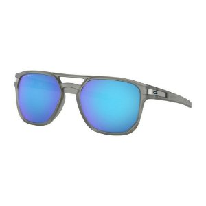 Óculos de Sol Oakley Latch Beta Matte Grey Ink W/ Prizm Sapphire Polarized - Cinza