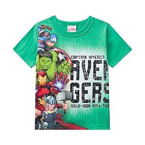 Camiseta Infantil Avengers Verde - Brandili
