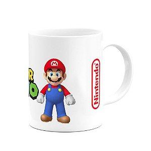 Caneca Gamer - Mário and Luigi