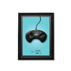 Quadro A4 - Poster Gamer Joystick Mega Drive