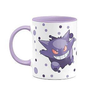 Caneca Pokémon - Guengar B-lilás