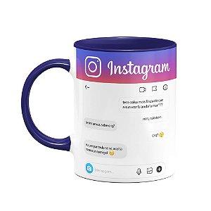 Caneca Instagram personalizável - B-blue