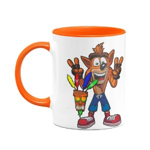Caneca Crash Bandicoot - B-orange