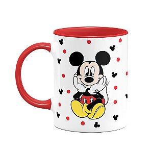 Caneca Mickey Frente e Verso - B-red