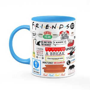 Caneca Friends Icons Moments B-blue