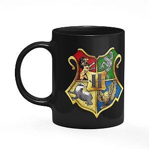 Caneca Casas Harry Potter - Preta