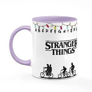 Caneca B-lilás Stranger Things