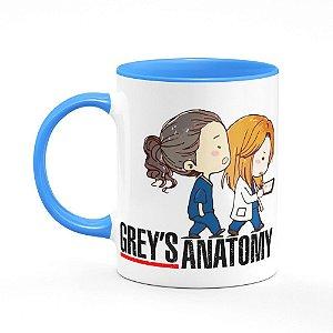 Caneca B-azul Greys Anatomy - You're My Person com nome