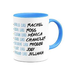 Caneca Friends  B-blue Nomes personalizados