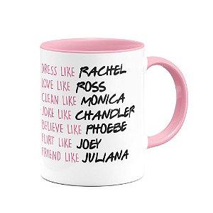 Caneca Friends  B-rosa Nomes personalizados