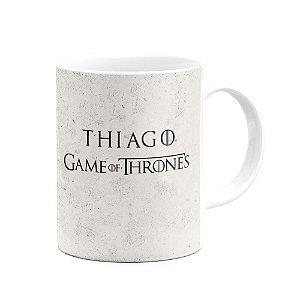 Caneca Games Of Trones Winter Is Coming Stark Com Seu Nome
