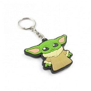 Chaveiro geek emborrachado Baby Yoda