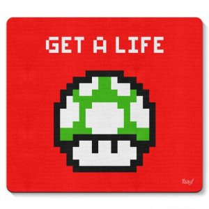 Mousepad Cogumelo Pixel Get a Life
