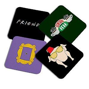 Porta copos quadrado - Icons Friends