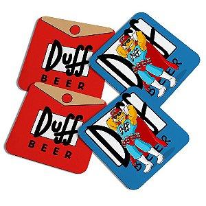 Porta copos quadrado - Simpsons Duff Man