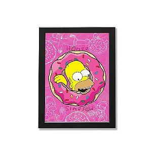 Quadro A4 - Homer donuts rosquinha
