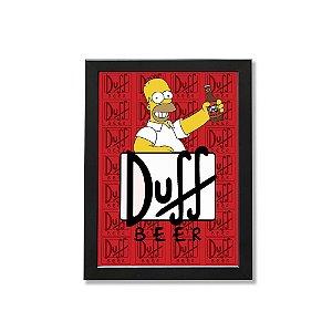 Quadro A4 - Homer Simpson Duff