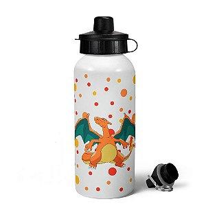 Garrafa squeeze branca - Pokemon Charizard