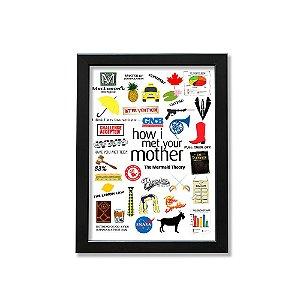 Quadro A4 - Icons Moments How I Met Your Mother Light moldura preta