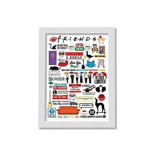 Quadro A4 - Icons Moments Friends Light moldura branca