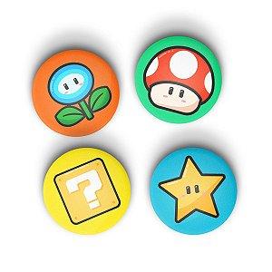 Kit Bottons icons Mario com 4 unidades