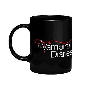 Caneca Série The Vampire Diaries Preta (Saldo)
