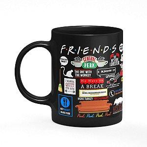 Caneca Friends Icons Moments  - Preta (Saldo)