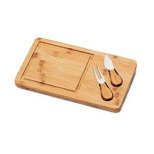 Kit para queijo em bambu com 3 peças personalizado - Cód.: 93830SQ