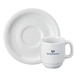 Xicara café com Pires 70 ml. personalizada - Cód.: 068476PPQ